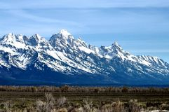 Montaña magnífica de Teton foto de archivo libre de regalías
