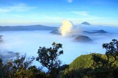 Montaña Malang Indonesia de Bromo Fotos de archivo