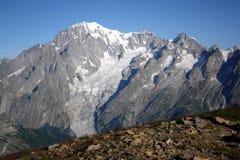Montaña Mont Blanc imagenes de archivo