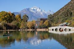 Montaña negra de Dragon Pool Jade Dragon Snow en Lijiang, Yunnan, Fotos de archivo libres de regalías