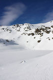 Montaña nevada Imágenes de archivo libres de regalías