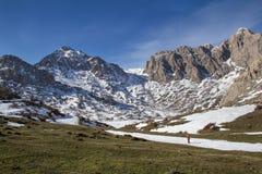 Montaña Nevado de Tikjda en Bouira - Argelia Imagen de archivo
