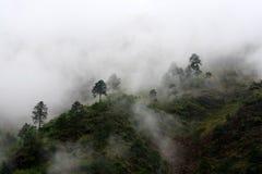 Montaña nublada Imagen de archivo libre de regalías