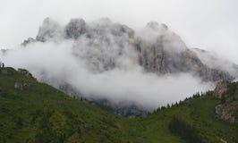 Montaña nublada (Gansu) Foto de archivo libre de regalías