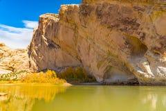Montaña partida en el monumento nacional del dinosaurio, Utah Imagen de archivo