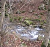 Montaña poco río Imagenes de archivo