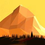 Montaña polivinílica baja del vector Imágenes de archivo libres de regalías