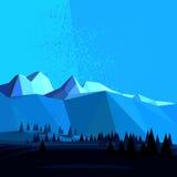 Montaña polivinílica baja del vector Imagen de archivo libre de regalías