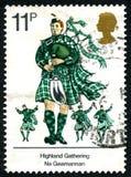 Montaña que recolecta el sello BRITÁNICO Imágenes de archivo libres de regalías