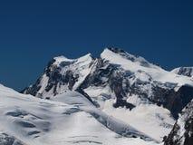 Montaña Ridge de Monte Rosa Fotografía de archivo libre de regalías