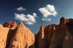 Montaña rocosa Fotos de archivo libres de regalías