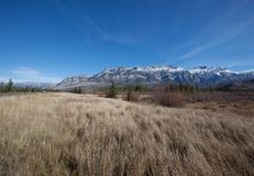 Montaña rocosa alta Foto de archivo