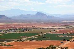 Montaña roja y cuatro picos Imagen de archivo