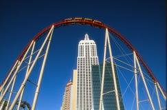 Montaña rusa de Las Vegas Nueva York Nueva York Imagen de archivo