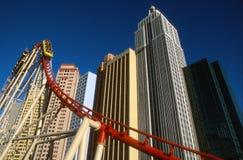 Montaña rusa de Las Vegas Nueva York Nueva York Imagen de archivo libre de regalías