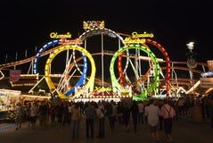 Montaña rusa de Oktoberfest Imagen de archivo libre de regalías