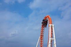 Montaña rusa del rayo en la isla de conejo Luna Park - arroyo fotografía de archivo