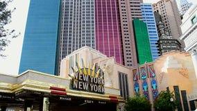 Montaña rusa, nuevo York-nuevo hotel de York y casino en la tira de Las Vegas en Las Vegas, los E.E.U.U., metrajes