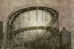 Montaña rusa; retro fotografía de archivo