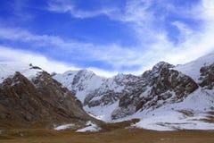 Montaña salvaje de la nieve en Kirguistán Fotografía de archivo libre de regalías