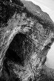 Montaña seria de Tianmenshan Foto de archivo libre de regalías