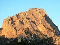 Montaña Sokol en Crimea Fotos de archivo libres de regalías