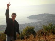 Montaña superior Macedonia del hombre Fotos de archivo