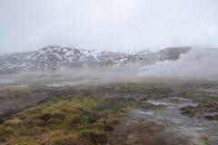Montaña tórrida en Islandia Fotografía de archivo libre de regalías