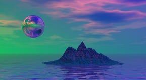 Montaña y bola ilustración del vector