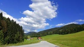 Montaña y bosque en las montañas austríacas Fotografía de archivo