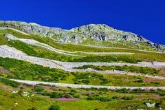 Montaña y camino Foto de archivo
