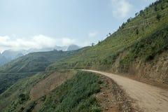 Montaña y camino en mA pi Leng Foto de archivo