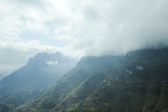 Montaña y camino feliz en mA pi Leng Fotos de archivo libres de regalías