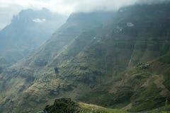 Montaña y camino feliz en mA pi Leng Foto de archivo libre de regalías