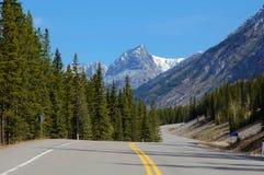 Montaña y carretera del enrollamiento Fotos de archivo