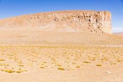 Montaña y desierto en reserva nacional de los flamencos del Los Imagen de archivo