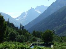 Montaña y la piscina Fotos de archivo
