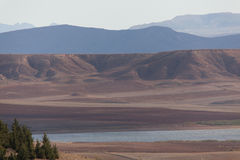 Montaña y laca en Argelia Foto de archivo