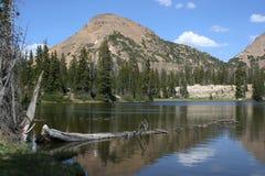Montaña y lago alpestre Fotografía de archivo