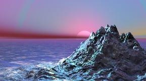 Montaña y mar ilustración del vector
