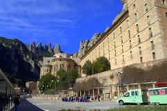 Montaña y monasterio, España de Montserrat Imagen de archivo