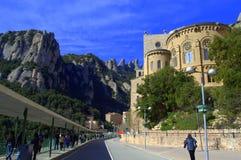 Montaña y monasterio, España de Montserrat Foto de archivo
