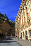 Montaña y monasterio, España de Montserrat Foto de archivo libre de regalías