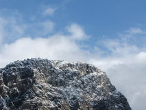 Montaña y nieve fotos de archivo libres de regalías