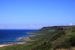 Montaña y océano Foto de archivo libre de regalías
