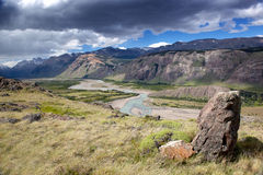 Montaña y paisaje de River Valley Fotografía de archivo libre de regalías