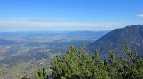 Montaña y valle en Alemania Imagen de archivo libre de regalías