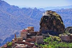 Montaña Yemen, Haraz del este, al-Hutaib Imágenes de archivo libres de regalías