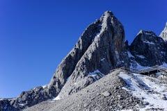 Montaña Yunnan China de la nieve de Yulong Imagen de archivo