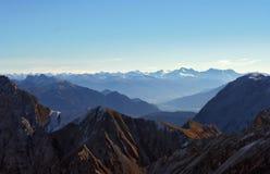 Montaña Zugspitze, Alemania de la nieve. Fotografía de archivo libre de regalías